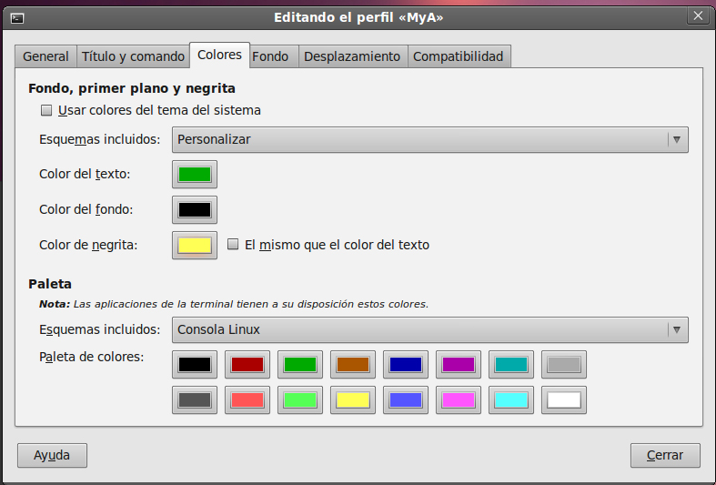 Colores Terminal Linux